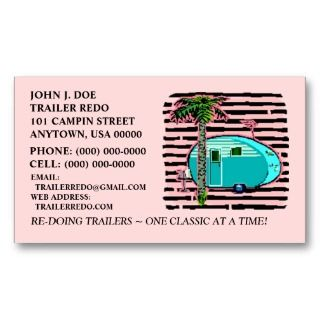 CANNED HAM VINTAGE TRAVEL TRAILERS BUSINESS CARDS