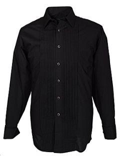Double TWO Black stitch pleat dress shirt Black