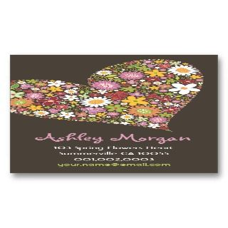 162160069 flowers valentine heart love business card template Valentines Love Poems