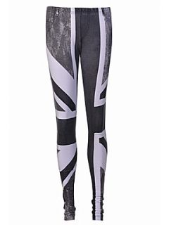 Religion Union jack print leggings Grey   House of Fraser