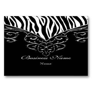 Elegant Business Card Wild Zebra Black White