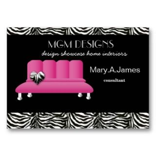 trendy interior decorator Business Cards