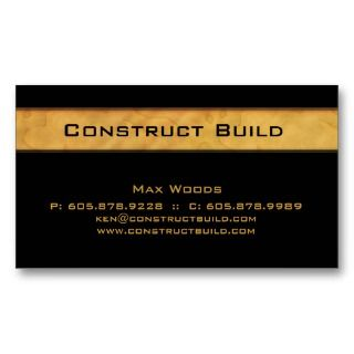 Contractor Business Card Wood Grain business cards by BestCards