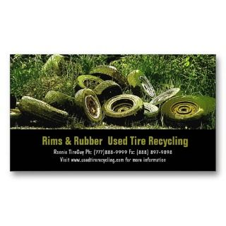 Recycling Dump or Depot Center Business Card Template