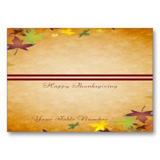 Thanksgiving Table Placecard Business Card Templates