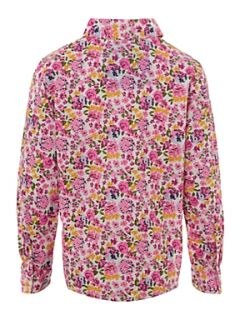 Lands End Girl`s ruffle front shirt Pink   House of Fraser