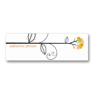 Bloom Tree Dots  *03 Profile Card  Gift Tag  Business Card