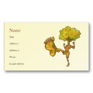 Kung Fu Tree Profile Card Template Business Card