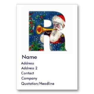 LETTER / SANTA BUGLER MONOGRAM BUSINESS CARD