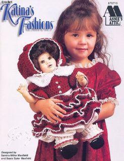 Katinas Fashions Annies 16 Doll Crochet Patterns