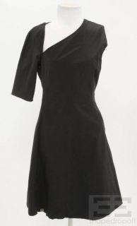 Karolina Zmarlak Black One Shoulder A Line Dress Size XS New