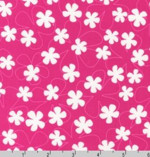 Surf Time Floating Flowers Pink Fabric Robert Kaufman 11848 193 Summer