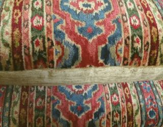 Brunschwig Fils Velvet Fabric Custom Designer Throw Pillows Red Blue 2