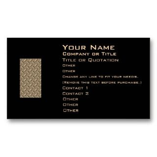 business card font size 4 see more metal style business cards font