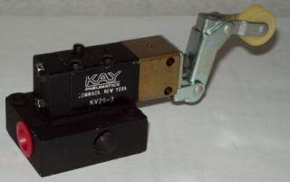 Kay / Parker KV Pneumatic Roller Lever Actuated Valve KV76   3   122