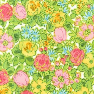 Kaufman London Calling Spring Floral Cotton Lawn Fabric Quilt BTY