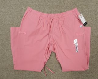 Katherine Heigl Pink Flamingo Drawstring Elastic Uniform Scrub Pants
