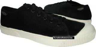 Keen 13030 Corduroy Lace Up Mens Vulcanized Hybrid Sneaker Black
