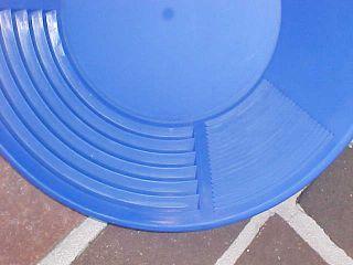 Keene Blue 12 inch Gold Pan Sluice Nugget Prospecting