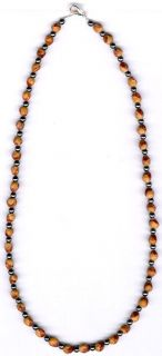 Mens Womens Ghost Bead Cedar Bead Necklace 25 Native American Jewelry