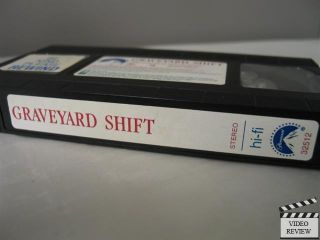 Graveyard Shift VHS David Andrews Kelly Wolf Stephen Macht Brad Dourif