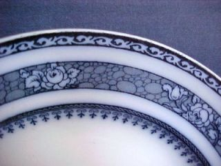 Keeling Co Losol Ware Ormonde Flow Blue Plate 9 5 In
