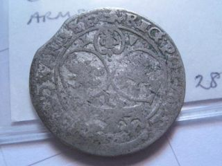Poland Silver Coin Jan Kazimir 6 Gross 1662