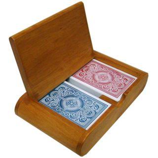 KEM Arrow R B Wide Jumbo Index Plastic Cards Wood Box