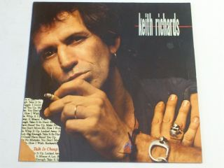 Keith Richards Talk Is Cheap EX 1988 Virgin Classic Rock LP