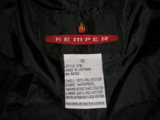 Kemper Boys Cargo Style Ski Snow Pants Size 10 Black