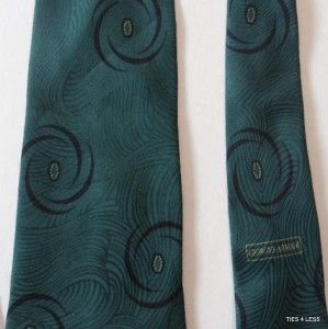 Giorgio Armani Green Black Men Formal Necktie