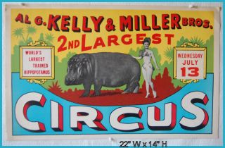 15. AL G. KELLY & MILLER BROS 2ND LARGEST CIRCUS / WORLDS LARGEST