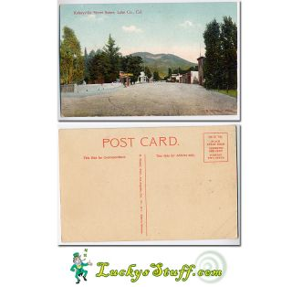 Kelseyville Street Scene Lake County CA c1910 Postcard California