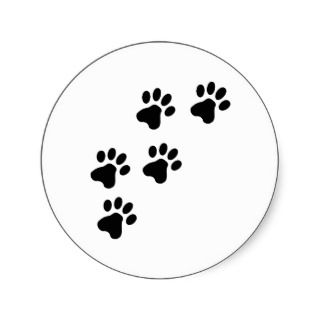 black cute dog paws doggy stickers
