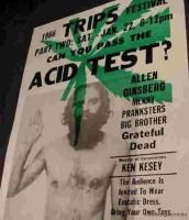 1966 LSD Can You Pass The Acid Test Trips Grateful Dead Poster 60s