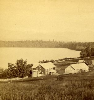 House from Excelsior House, Adirondack Woods, by Baldwin, Keeseville
