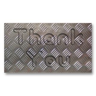 Metal  Thank You Business Card