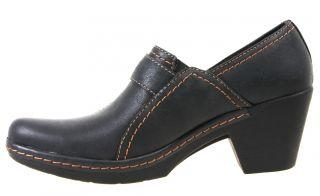 Clarks Womens Shoes 34966 Freesia Isle Black Heels