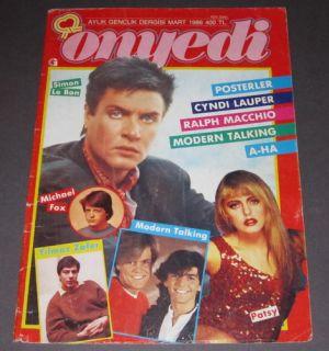 Simon Le Bon Turkish Mag Cover Duran Duran Zeki Swimsuit Advertisement
