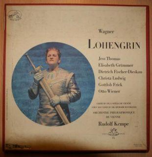 Rudolf Kempe Lohengrin Wagner San F 121 5 White Angel Stereo
