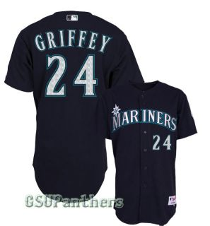 Ken Griffey Jr Seattle Mariners Authentic Alternate Navy Blue Jersey
