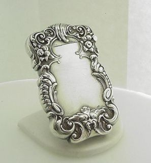 Fantastic Antique Victorian Sterling Kerr Match Safe