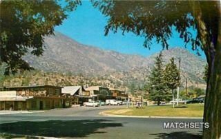 Kernville California Street Scene Kern River Valley Postcard