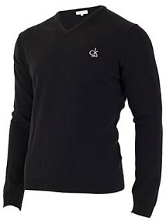 Calvin Klein Golf Super wool v neck sweater Black