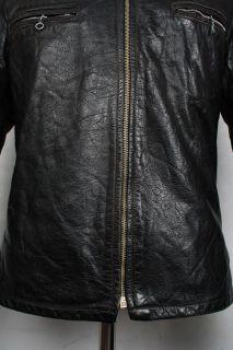 Stunning Vtg 60s Shields of Toronto Leather Motorcycle Jacket Cafe