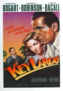 Key Largo Movie Mini Promo Poster K Humphrey Bogart Lauren Bacall