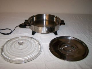 Regal Ware Society Oil Core Stainless Steel Waterless Electric Skillet