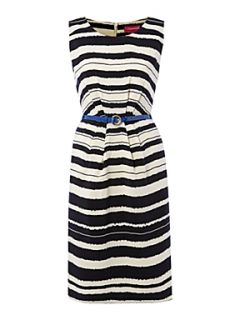 The Department Painted stripe woven soft belt dress Multi Coloured