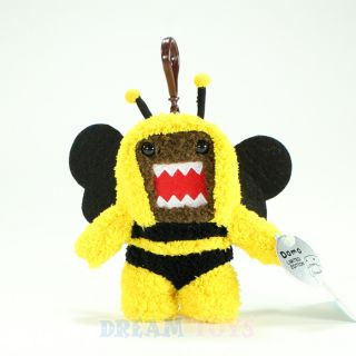 Domo Kun Plush Doll Clip on Keychain in Bumble Bee Custom Licensed