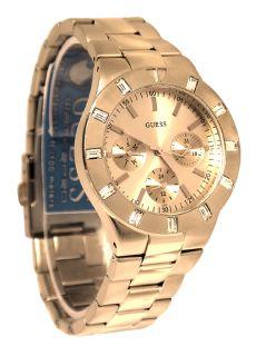 Guess U13013L1 Rose Gold Tone Stainless Steel Bracelet Women Watch New